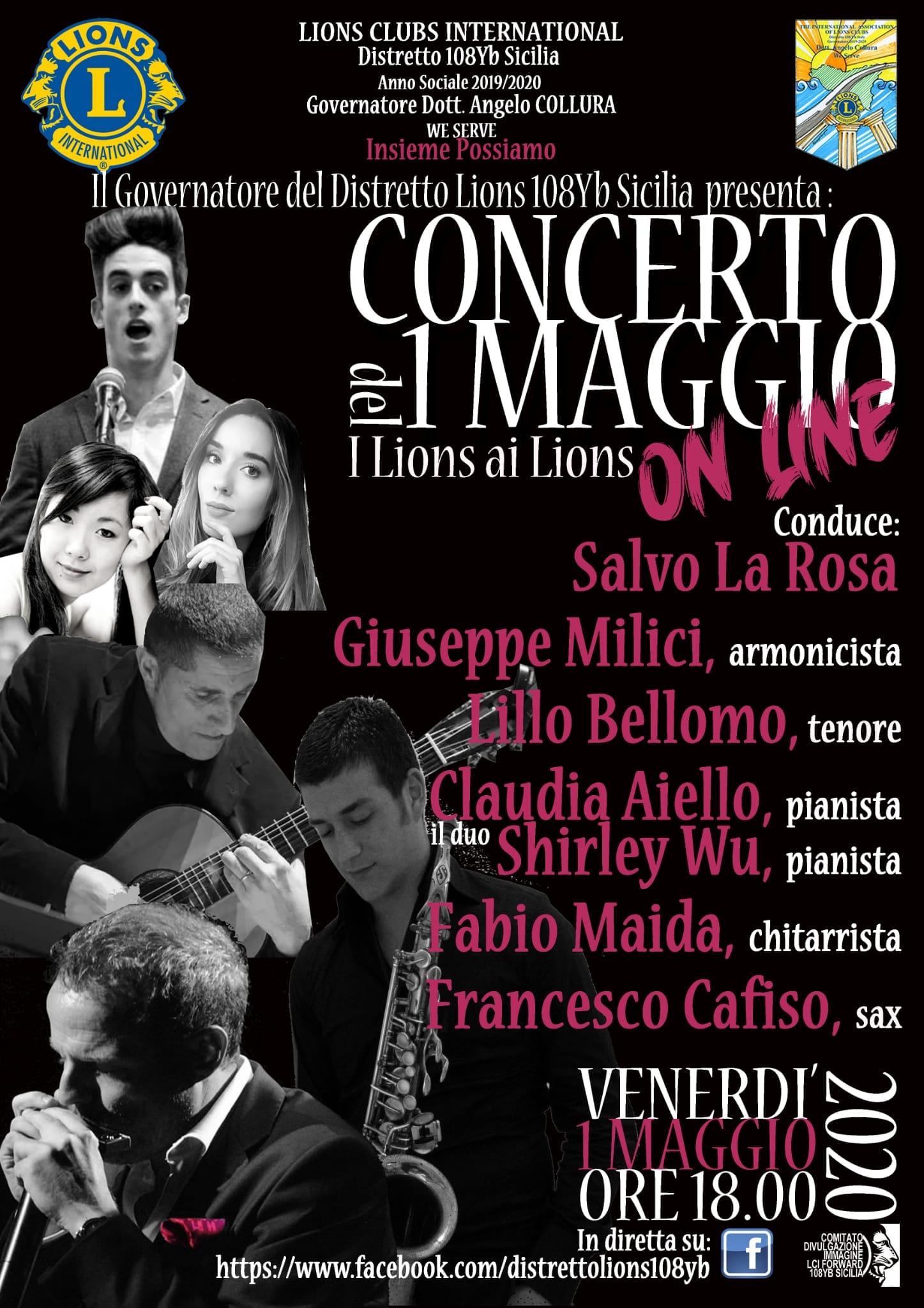 Lions siciliani, concerto in diretta Facebook del 1° maggio con grandi artisti