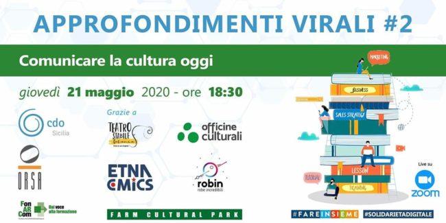 """""""Comunicare la cultura oggi"""", un incontro online sulla comunicazione per la promozione dell'arte, della cultura e del turismo"""