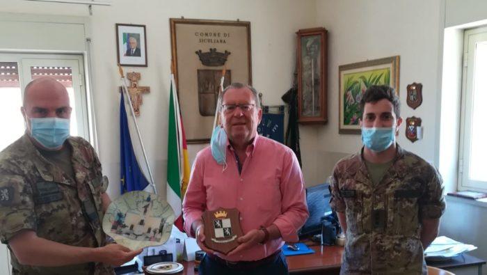 Siculiana, il sindaco Lauricella ringrazia il Reggimento logistico Aosta di Palermo