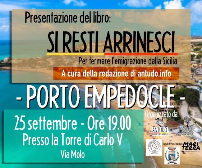 """Porto Empedocle: si presenta il libro """"Si Resti Arrinesci"""""""