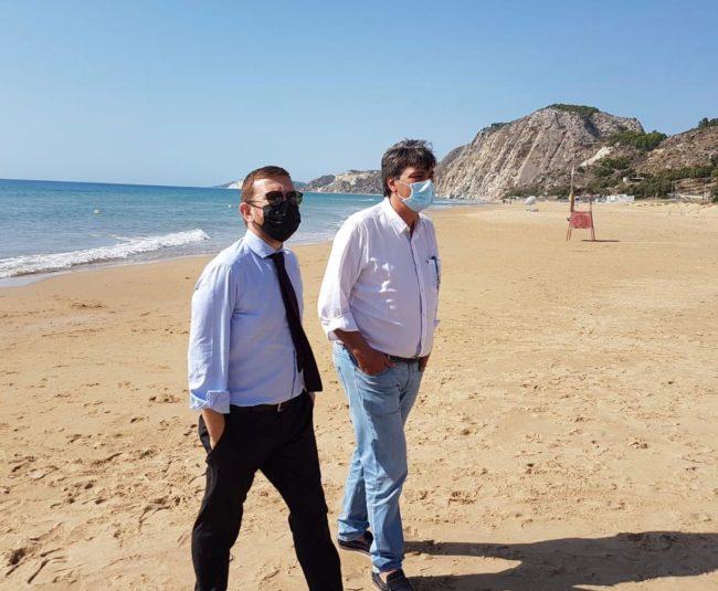 Siculiana: il ministro per il Sud Provenzano ha incontrato il candidato Peppe Zambito