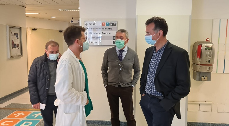 Visita del sindaco Micciché all'ospedale di Agrigento