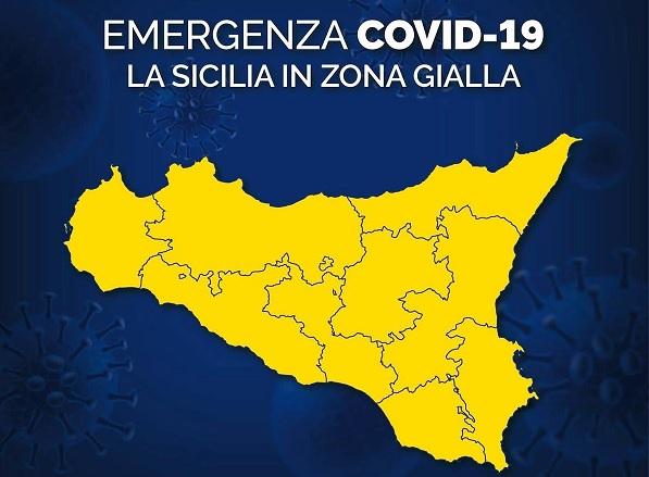 Sicilia resta zona gialla, da lunedì però scattano specifiche misure di precauzione