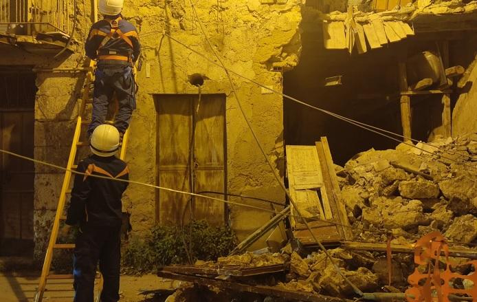 Crollo in via Pirandello a Favara, nessun ferito
